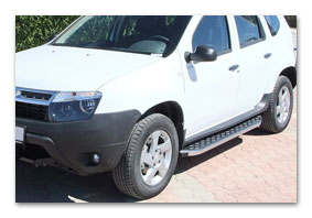 running boards DACIA Duster stainless steel polished