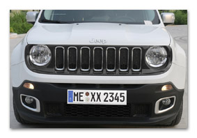 Cover for radiator grille for JEEP Renegade from MY 2015 to 2018 (VM04146)