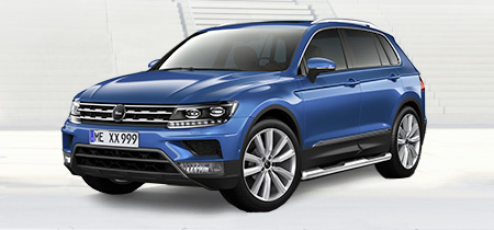 vw tiguan ii since 2016 exterior accessories. Black Bedroom Furniture Sets. Home Design Ideas