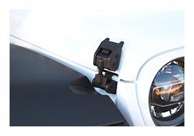 Halter schwarz für Motorhaube JEEP Wrangler