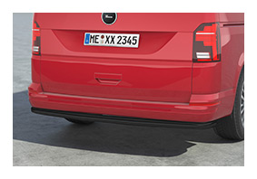 Rear protection bar black VOLKSWAGEN T6.1