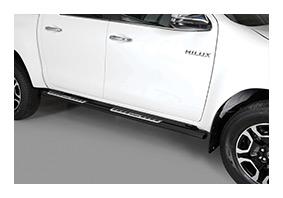 Schwellerrohre TOYOTA Hilux DoubleCab Facelift ab MJ 2021 - schwarz