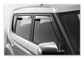 window deflectors KIA Soul bis MY 2011 accessories