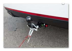 Vmaxx: Holder for breakaway cable for tow-bar